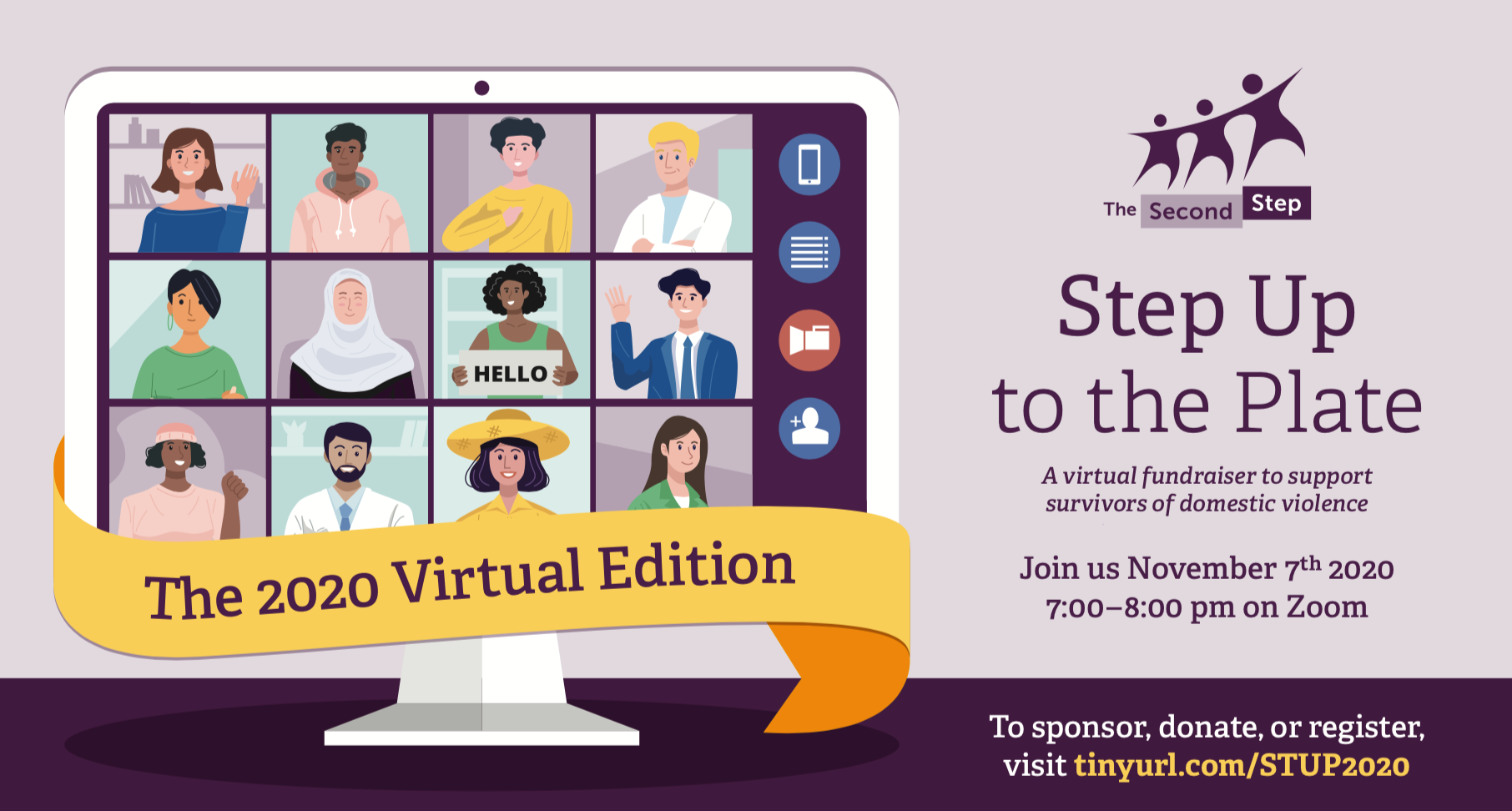 Step Up to the Plate: the 2020 Virtual Edition (the image depicts a zoom meeting)